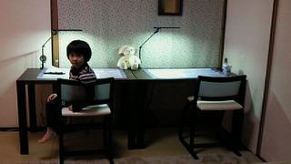 なっちゃんの学習机